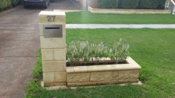 Letter Box With Garden Bed Feature